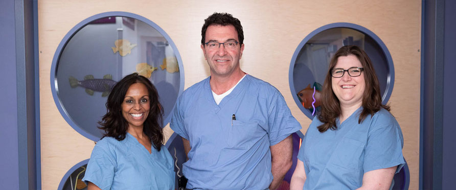 Dr. Laufer's surgical team